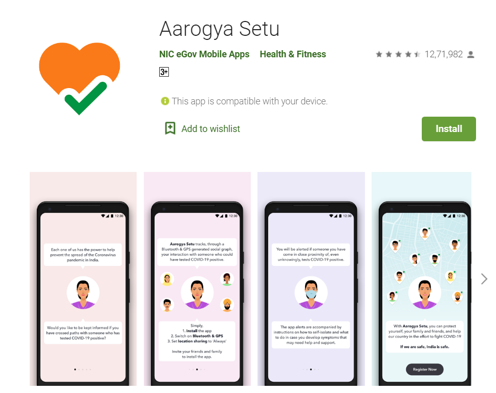 Aarogya setu app
