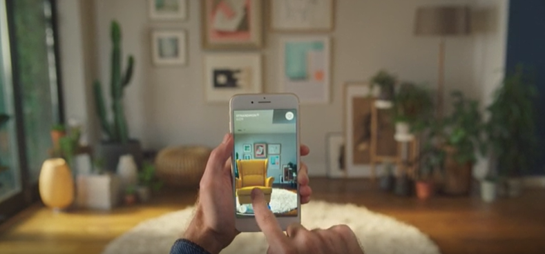 IKEA's app with augmented reality