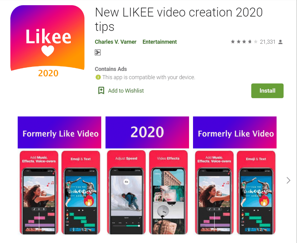 Likee- best alternative of TikTok