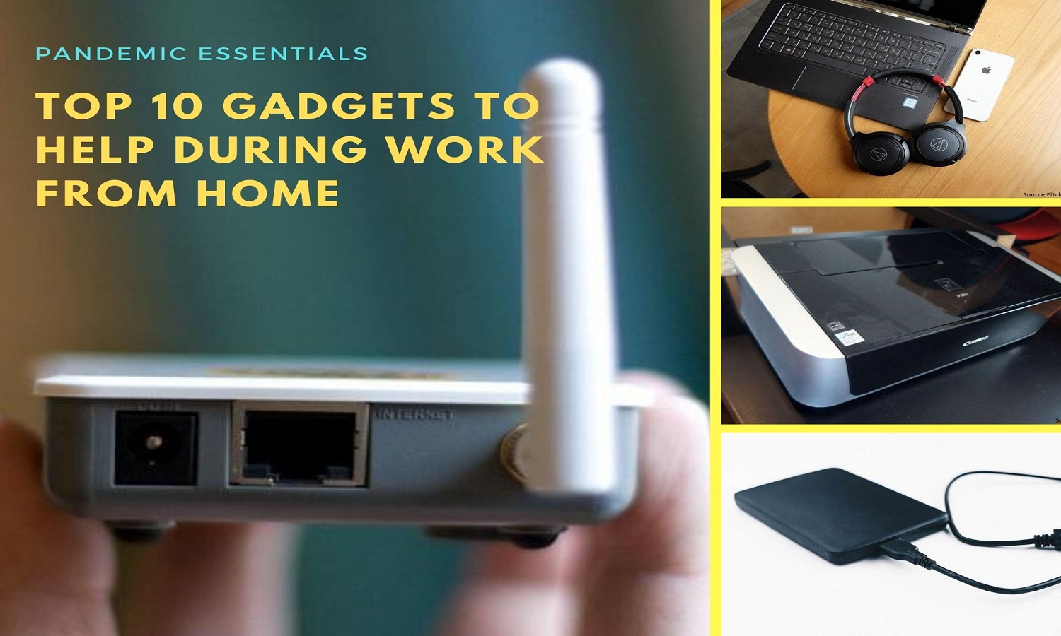 List Of Top 10 Gadgets To Help During Work From Home