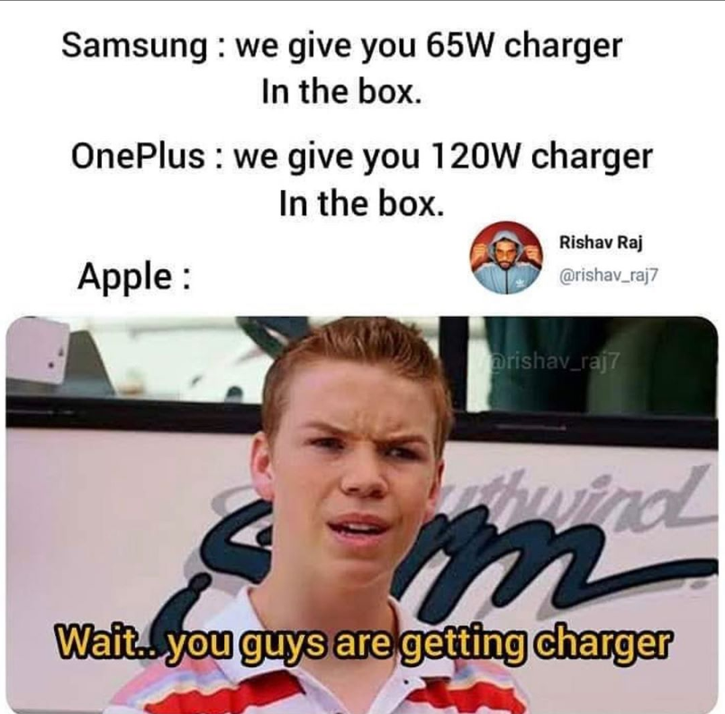 Does apple provide charger