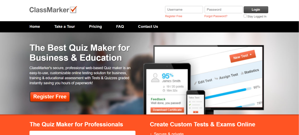 Classmarker free quiz maker